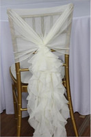 big lots chairs - Elegant White Chair Sash with Big D Chiffon Delicate Wedding Decorations Chair Covers Wedding Accessories