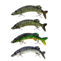 big pike - 8 quot cm g Lifelike Multi jointed segement Pike Muskie Fishing Lure Swimbait Crankbait Hard Bait Fish Treble Hook Tackle Y0181
