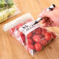 Wholesale 30pcs set Fresh food storage bags dense thicker reusable bag recordable zip lock storage bags sizes EJ872379