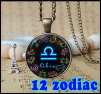 european and american astrology symbols - Personalized Zodiac Sign pendant Necklace Vintage constellation symbol charm Astrology horoscope jewelry child man woman gifts