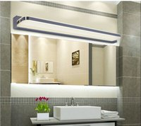 mirror cabinet - Mirror light led bathroom wall lamp mirror glass waterproof anti fog brief modern stainless steel mirror cabinet mirror light