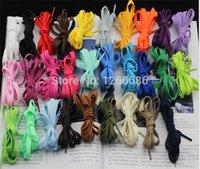 Cheap 1000Pairs lot 110*0.9 cm new Colorful Flat Shoe Lace Athletic Shoelace Sneaker String Lace shoes laces shoelaces