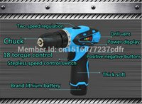 Wholesale 12V Rechargeable Cordless electric drill Percussion hammer Manual electric screwdriver bits Lithium battery power tool sets