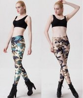 ladies trousers - Army Camouflage leggings Women Ladies Sport Sports Fitness Printed Trousers Printed high waist Stretch Floral legging