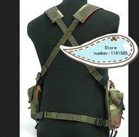 ak magazine vest - Fall Outdoor tactical ride AK multi pocket magazine chest rig carry cs vest Woodland