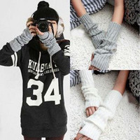 Wholesale Fashion Women Men s Gloves Arm Warmer Long Fingerless knit Mitten Winter Unisex