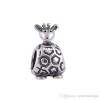 Wholesale European Diy Charm BraDFlet Authentic Sterling Silver Animal Beads Giraffe Charm New Jewelry For Women DF146
