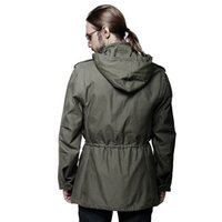 alpha parka - Fall CQB Cotton M65 Classic Trench Coat Men Alpha outdoor Medium long Overcoat Parka Homme Tactical Jacket Trench Homme