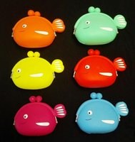 Wholesale POCHI Silicone Coin Purse Silicone POCHI Wallet Bagi Silicone Coin Purse fish Coin Bag Silicone POCHI Purse Coin Wallet key wallet