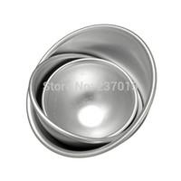 bath bombs - 1Set Sizes D Semicircle cake fondant cake mold Aluminum Ball Sphere Bath Bomb Cake Pan Tin Baking Mold Pastry Mould