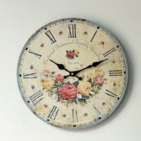analog clock themes - Birthday girl pink flowers wood wall decoration wall clock clock hotel restaurant nostalgia theme decorations