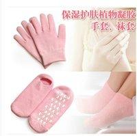 Wholesale spa pairs pair glove pair sock Spa Gel Socks Gel Gloves Foot Hand Care Moisturizing Treatment