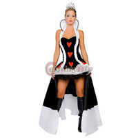 alice costume adult - Sexy Fantasia Alice In Wonderland Queen Of Hearts Carnival Halloween Dress Costume Party Cosplay Costume Adult