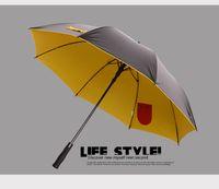 golf umbrella - visible double layers fabric golf umbrellas fiberglass auto open anti static anti thunder inner pocket inside panel