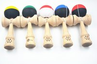 Wholesale hot two colors rubber Paint Beech Kendama Ball cm cm Japanese Traditional Wood Game Toy