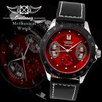 Wholesale New Fashion Watches Men Luxury Brand Men s Quartz Watch Classic Skeleton Leather Band Steel Mechanical Clock Business Dress Watch Dropship