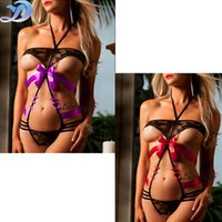 Cheap Sexy baby Doll for women sexy lace bra set sexy lingerie women's nightwear set transparent underwear for sex X-24