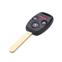 Wholesale Car Replacement Key Keyless Entry Remote Control Controller Uncut Remote Fob for Honda Accord Car Alarm Security System order lt no track