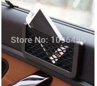 Wholesale New Black Car Net Organizer Pockets Car Storage Net X8cm Automotive Bag Box Adhesive Visor Car Bag For Tools Mobile Phone
