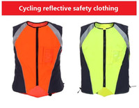 night clothes motorcycle Canada - Free shipping High light Night Warning Flourescent Reflective cycling safety clothing Motorcycle jacket sports safety protective vest
