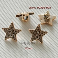 Cheap Fashion headwear buttons 17mm Rose gold star shape buttons for decoration or fashion swearter