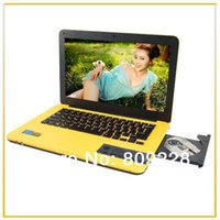 Cheap Free dhl shipping Colorful 13.3'' with dvd rom win 7 laptop dual core intel celeron 1037u 2G 320G+32G SSD 1.86GHz cheap notebook