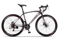 Wholesale 700 c cm frame Double disc brake road bike XC550 Racing Bike Road Bicycle speed highway high carbon steel frame