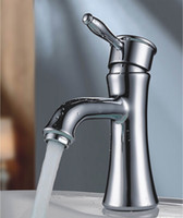 faucets - Cloud Power Chrome plated brass Bathroom Sink Faucets with Hot Cold Basin Bath Taps with Cooper