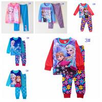 baby night suit - 6 styles girls pajamas baby girl frozen clothes elsa anna girl s pajama children sleepwear kids Homewear Loungewear girl cute night suits