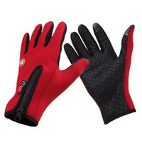 Wholesale Men Women Cycling Gloves Full Finger Touch Screen Winter Warm Smartphone Gloves MTB Bike Bicycle Windproof Gloves