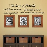 admiration pieces - The Love Of Family And The Admiration Wall Sticker Art Vinyl Removable DIY Home Decor Living Room