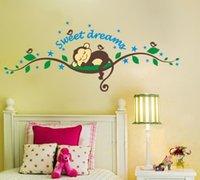 baby monkey for sale - Hot Sales Sweet Dreams Monkeys Tree Wall Sticker Birds Tree Baby Decals for kids Room