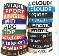 50pcs 20 designs LOL LOL bracelet GAMES Souvenirs Silicone Wristband League of legends Bracelets avec ADC, JUNGLE, MID, SUPPORT, TOP D599