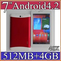 Cheap 40X 7 inch 3G Phablet Android 4.2 MTK6572 Dual Core 4GB 512MB Dual SIM GPS Phone Call WIFI Tablet PC Bluetooth 3-7PB