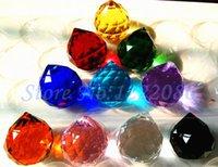 Wholesale 5pcs mm Mixed Color Crystal Faceted Ball Pendants Suncatchers color choose