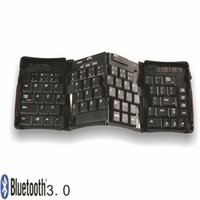 Wholesale New Keyboard Geyes Bluetooth Mini TRIPLE Folding Wireless Keyboard for iPhone iPad Android Tablet Laptop Smartphones for Travel