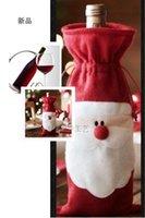 christmas decoration santa claus - Santa Claus Christmas gift bag Xmas Red wine bottle bag Christmas Decorations Festive Party Supplies X18CM