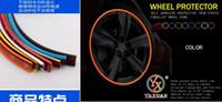 Wholesale M Car modified rims decoration strip Wheel Protector Sticker Multicolor Wheel Hub Bumper Strip
