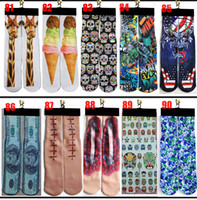wholesale kids socks - DHL d socks design kids women men hip hop socks d odd socks cotton skateboard socks printed gun emoji tiger skull socks Unisex socks
