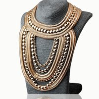 big necklace trend - Hot sale alloy necklaces pendants Trend fashion vintage big choker necklace statement women jewelry at Factory Price N516