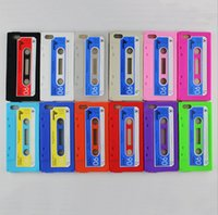 cassette case - Vintage cassette Tape cases Silicone Covers case for iPhone5 Soft Silicon Back for i5 cell phone