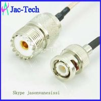 Wholesale 100pcs BNC male to UHF female with inch cm RG316 ohm coax cable assmebly