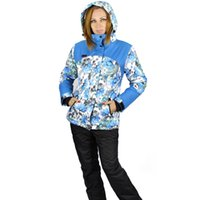 Wholesale Skiing Jackets Women s Ski Suit Women Windproof Waterproof And Large Floral Pattern Super Thermal Sport Skiing Suits