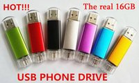 Wholesale USB phone drives real GB USB2 Flash Drive Thumbdrie pen drive U disk external storage micro usb memory stick with packaging