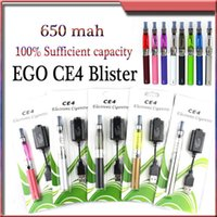 Double Black  Ego Ce4 Blister Kit EGO Starter Kits Atomizer Electronic Cigarette Vaporizer Clearomizer Usb Charger for MT3 H2S Protank vision spinner EVOD