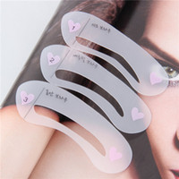 Wholesale Per Set Magic Eye Brow Class Drawing Guide Eyebrow Stencil Card Template Assistant Newest New Arrival