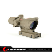 Wholesale Tactical ACOG X32 with Red Illumination Source Fiber Optical Rifle Scope With Real Red Optic Fiber Dark Earth NGA0416