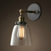 adjustable wall mirror - Adjustable Wall Lamps LIXADA E27 Vintage Glass Wall Sconces Rustic Country Wall Lamps Bedroom Stair Mirror Wall Light L0621