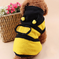 Wholesale Spring And Autumn Dog Clothes Bees Wings Polar Fleece Pet Hoodies Coat Costume Striped Puppy Dog Clothes HX0008 salebags