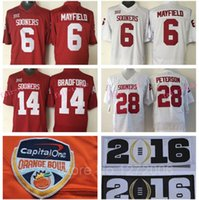 adrian peterson oklahoma jersey - Oklahoma Sooners Jerseys Baker Mayfield College Football Sam Bradford Adrian Peterson Orange Bowl Souvenir Patch